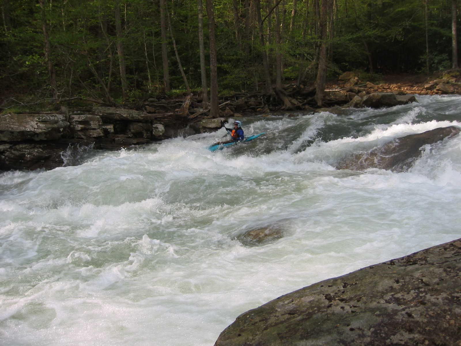 Marilyn Jones in Bridge Rapid (Photo by Scott Gravatt - 4/27/04)