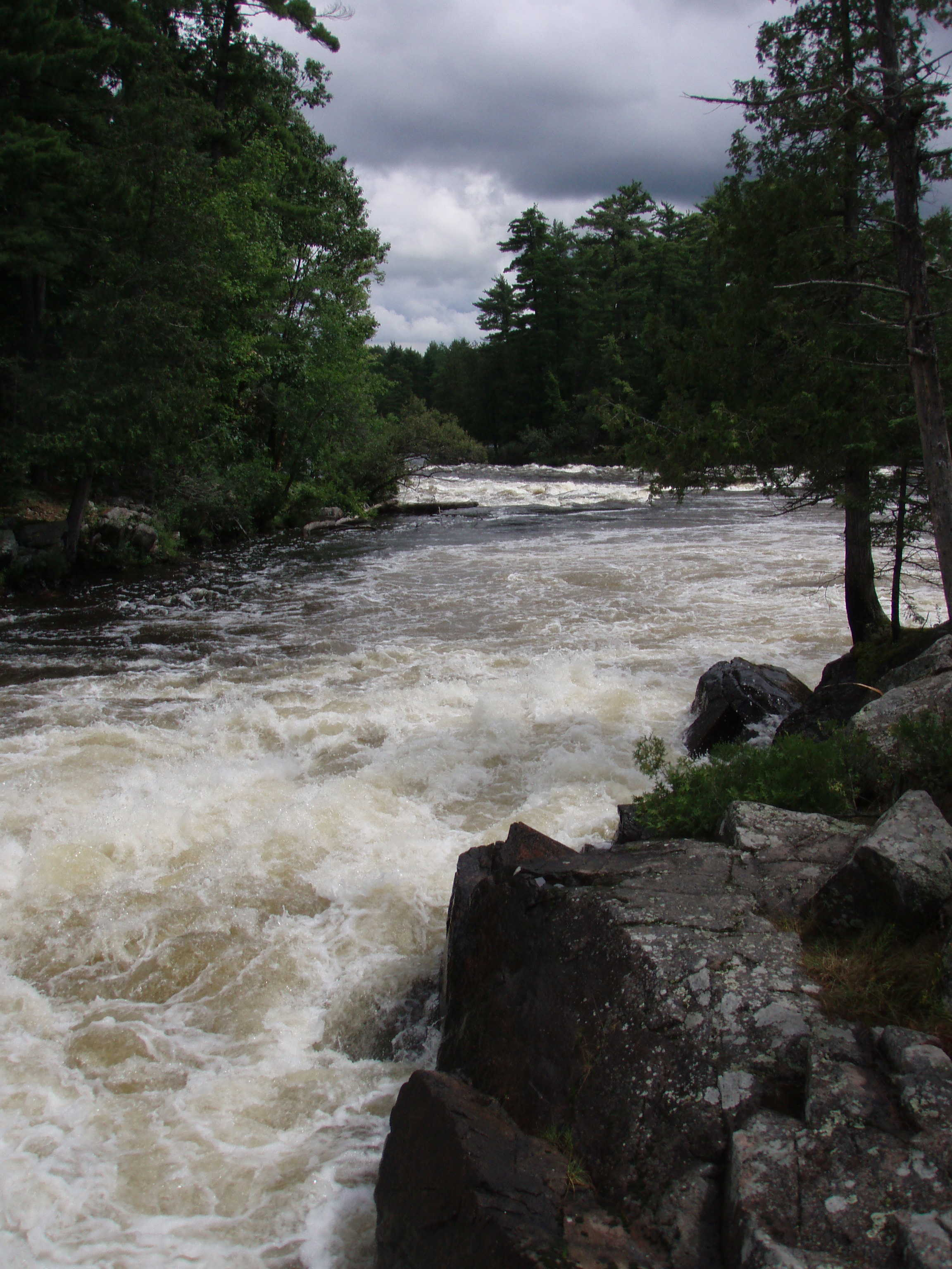 Looking downstream from runout of Iron Ring. (Photo by Keith Merkel - 8/10/08)