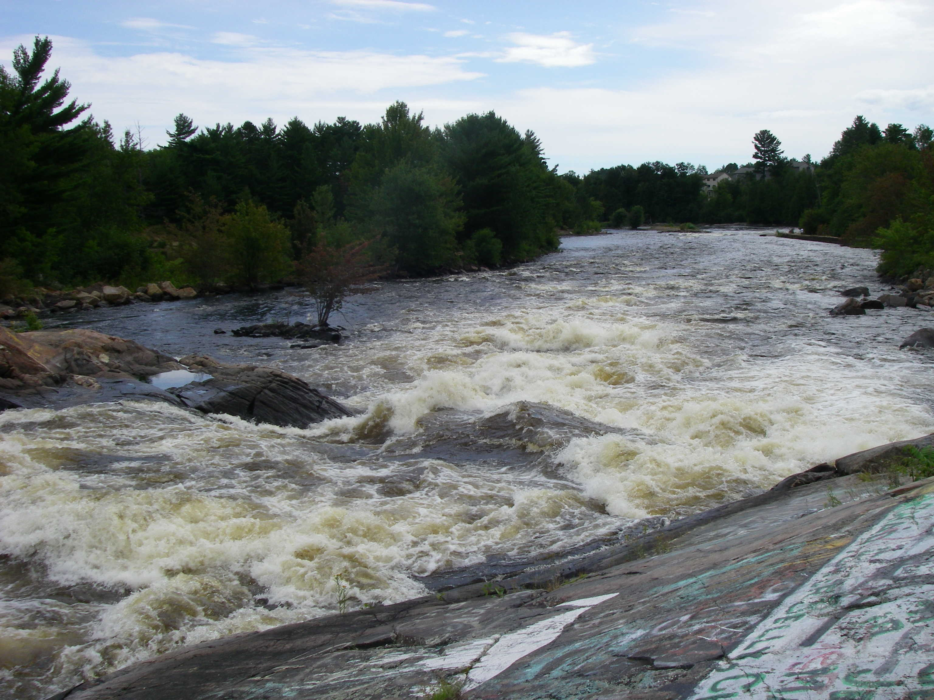 Lovers, the second major rapid on the Petawawa.  We ran far right. (Photo by Cahil Converse - 8/9/08)