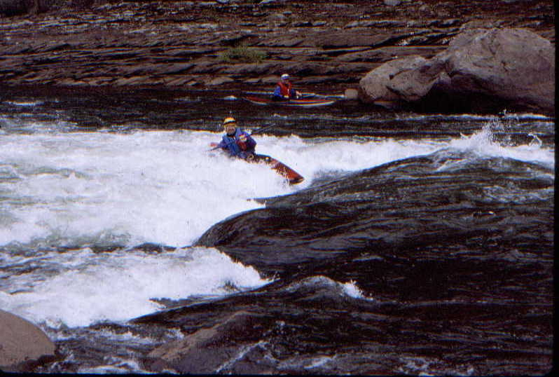 Bruce Labaw at Koontz Flume (Photo by Bob Maxey - 10/10/98)