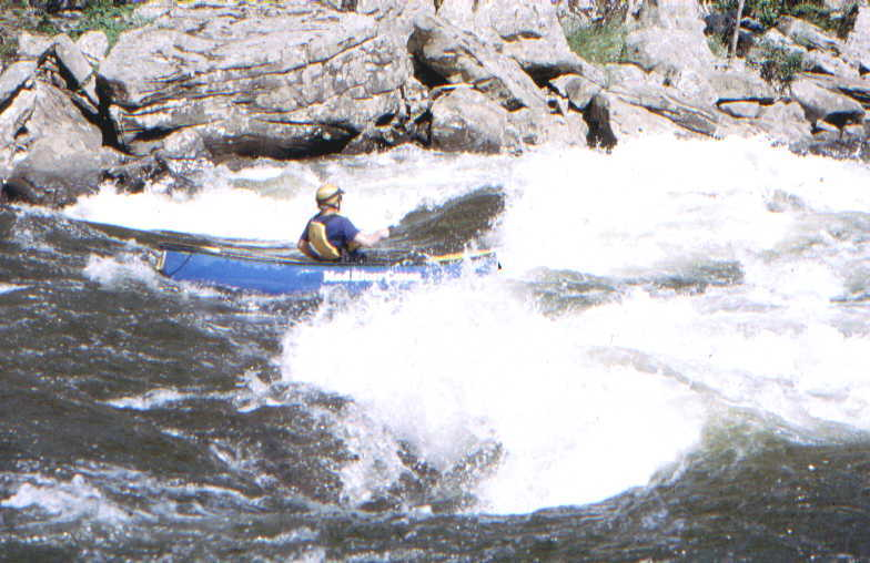 Kim Buttleman in River Wide Stopper (Photo by Bob Maxey - 9/7/02)
