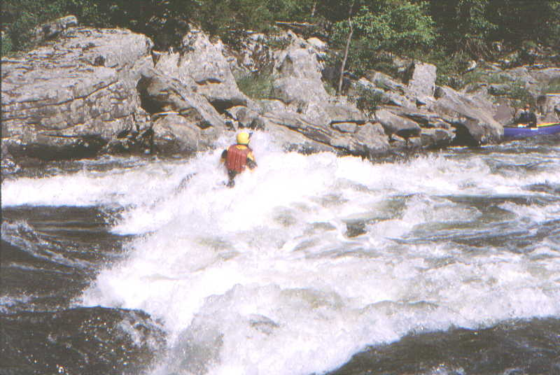 Scott Zetterstrom in River Wide Stopper (Photo by Bob Maxey - 9/7/02)