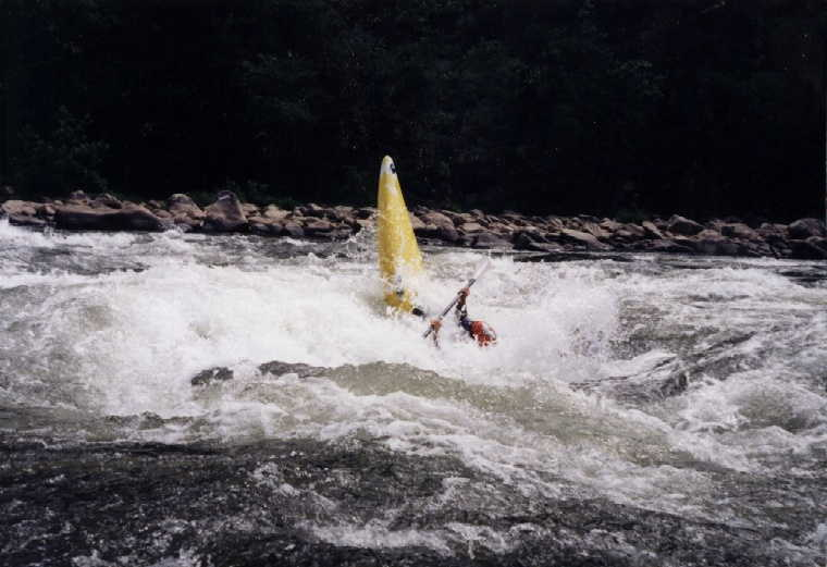 Keith Merkel gets good backender in Endo Waves (Photo taken 7/7/96)