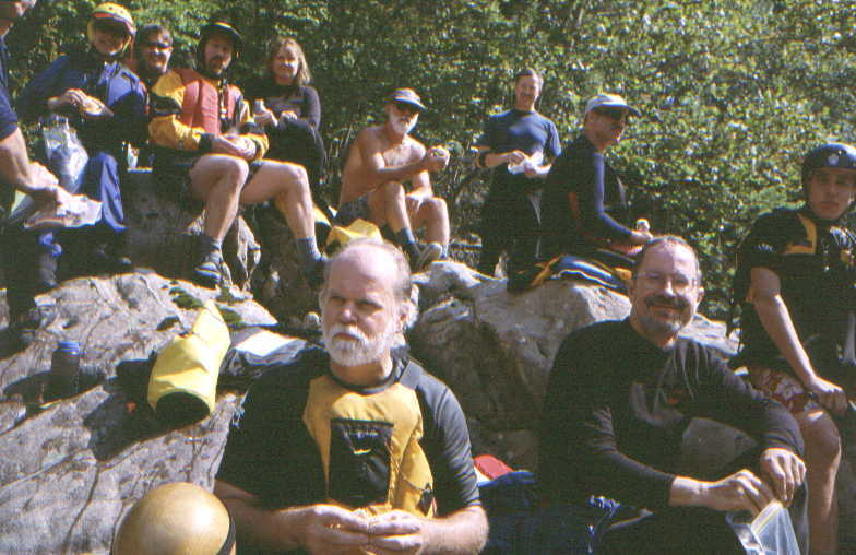 Lunch stop below Lower Keeney (Photo by Bob Maxey - 9/28/02)
